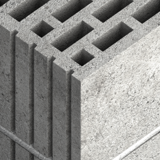 Hollow Lightweight Concrete Block